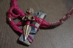 kyanite prayer necklace
